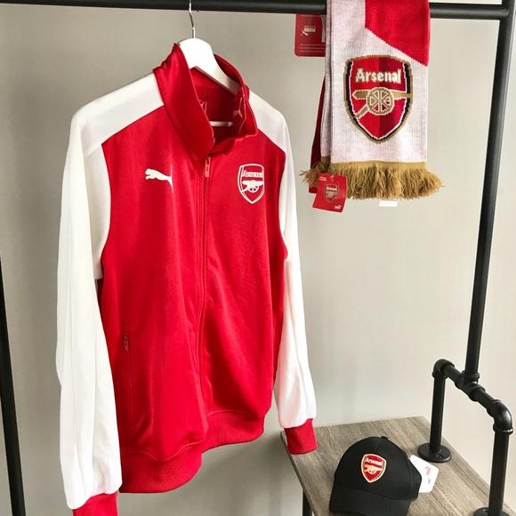 4a247164e7d Puma NEW Arsenal FC T7 stadium track jacket red M